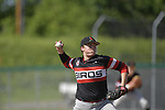 Adam Stilts winds up as he pitches against Belleville East in a Class 4A regional semifinal at Alton High School in Alton, IL on Thursday May 23, 2019.<br /> Tim Vizer/Special to STLhighschoolsports.com