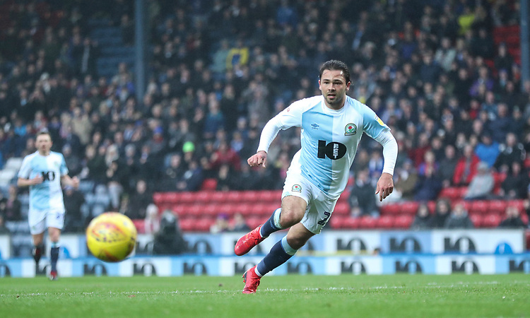 Blackburn Rovers' Bradley Dack assists Blackburn Rovers' Danny Graham to score there sides first goal<br /> <br /> Photographer Rachel Holborn/CameraSport<br /> <br /> The EFL Sky Bet Championship - Blackburn Rovers v Sheffield Wednesday - Saturday 1st December 2018 - Ewood Park - Blackburn<br /> <br /> World Copyright &copy; 2018 CameraSport. All rights reserved. 43 Linden Ave. Countesthorpe. Leicester. England. LE8 5PG - Tel: +44 (0) 116 277 4147 - admin@camerasport.com - www.camerasport.com