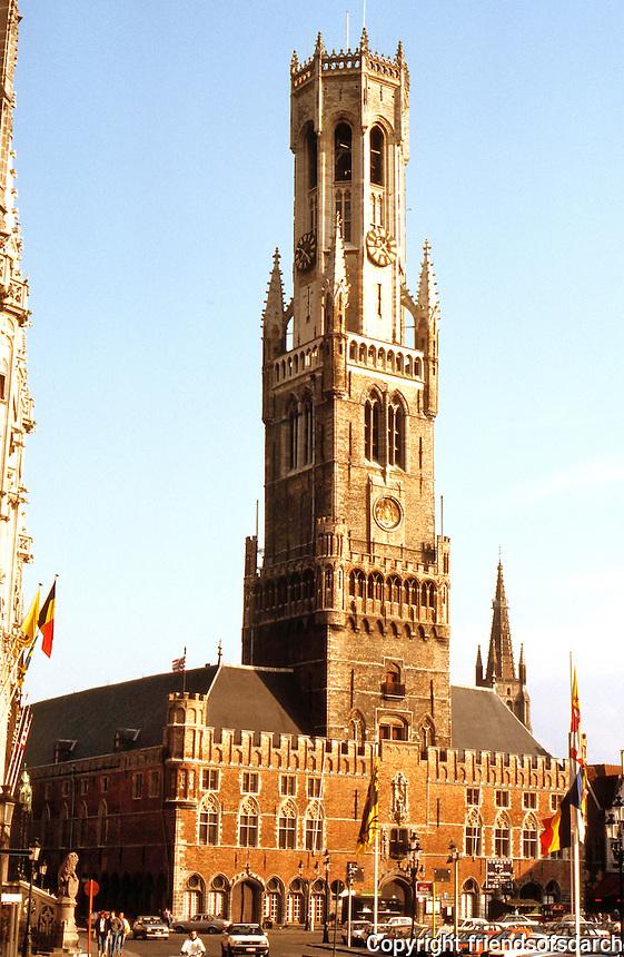 Bruges: The Great Belfry.  Photo '87.