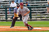 HOUSTON, TEXAS - Feb. 19, 2011: Justin Ringo of Stanford plays first base during the game at Rice. Rice defeated Stanford 7-1.