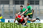 Glenbeigh Glencar in action against  Rock Saint Patricks in the Junior Football All Ireland Final in Croke Park on Sunday.