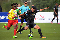Team Wellington's Mario Barcia during the 2018 OFC Champions League Quarterfinal between Team Wellington and Lae City Dwellers FC at David Farrington Park in Wellington, New Zealand on Saturday, 7 April 2018. Photo: Dave Lintott / lintottphoto.co.nz