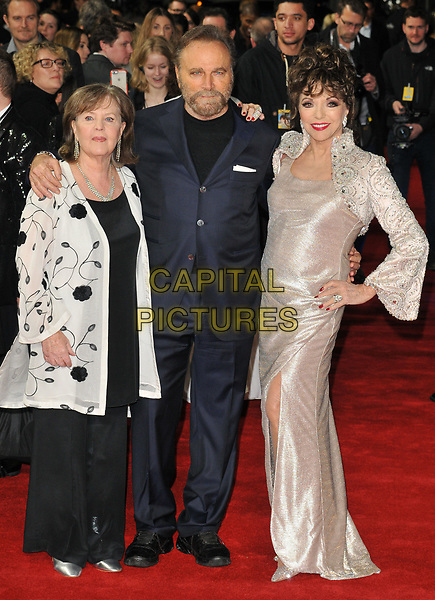 Pauline Collins, Franco Nero and Dame Joan Collins at the &quot;The Time of Their Lives&quot; world film premiere, Curzon Mayfair cinema, Curzon Street, London, England, UK, on Wednesday 08 March 2017.<br /> CAP/CAN<br /> &copy;CAN/Capital Pictures