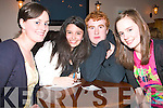 2811-2815.---------.Wizard's.--------.Putting their head's together to come up with the correct answer's at a packed Kerins O'Rahilly's GAA clubhouse last Friday evening for a charity quiz to raise funds for the Tir Na Nog children's orphanage in Tanzania(Africa)were L-R Elaine Kerins and Elaina O Sullivan(Farronfour)Steven Mulcahy(Tralee)and Marese O Sullivan(Milltown).