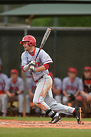 Ball State Cardinals third baseman Sean Kennedy (10) during a game against the Dartmouth Big Green on March 7, 2015 at North Charlotte Regional Park in Port Charlotte, Florida.  Ball State defeated Dartmouth 7-4.  (Mike Janes/Four Seam Images)