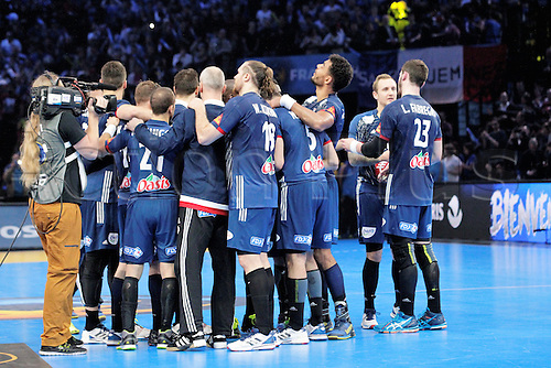 11.01.2017. Accor Arena, Paris, France. 25th World Handball Championships France versus Brazil. Team France in celebration action
