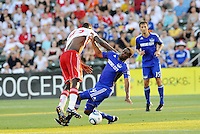 Tony Tchani #23, Craig Rocastle #4...Kansas City Wizards were defeated 3-0 by New York Red Bulls at Community America Ballpark, Kansas City, Kansas.