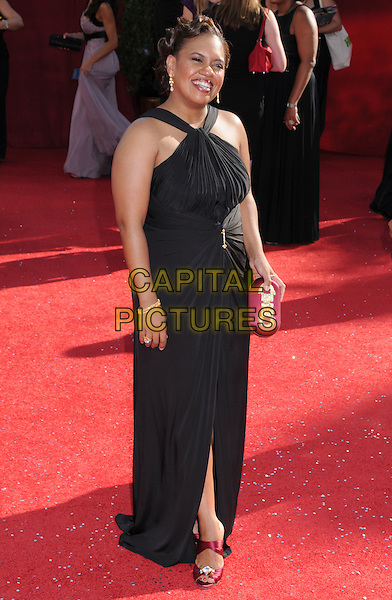 CHANDRA WILSON  .60th Annual Primetime Emmy Awards held at the Nokia Theatre, Los Angeles, California, USA, .21 September 2008..emmys red carpet arrivals full length black dress long maxi .CAP/ADM/BP.©Byron Purvis/Admedia/Capital PIctures
