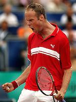18-07-2004, Amersfoort, Tennis ,Priority Dutch Open, Martin Verkerk in zijn partij tegen Gonzalez