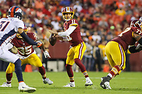 Landover, MD - August 24, 2018: Washington Redskins quarterback Alex Smith (11) throws a pass during the preseason game between Denver Broncos and Washington Redskins at FedEx Field in Landover, MD.   (Photo by Elliott Brown/Media Images International)