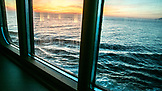 CANADA, Vancouver, British Columbia, views of Discovery Passage in the Inside Passage at sunset, Holland America Cruise Ship the Oosterdam