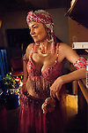 A member of the Russian Center Dancers waits to go onstage at the Russian Festival in San Francisco, California on Saturday, February 22nd, 2014.  Photo/Victoria Sheridan