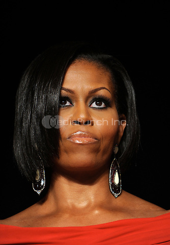 First Lady Michelle Obama looks on during the White House Correspondents' Association Dinner at the Washington Hilton in Washington, DC, on Saturday, May 1, 2009.<br /> Credit: Olivier Douliery / Pool via CNP /MediaPunch