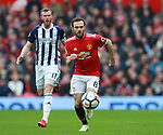 Juan Mata of Manchester United during the premier league match at the Old Trafford Stadium, Manchester. Picture date 15th April 2018. Picture credit should read: Simon Bellis/Sportimage