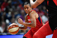 Washington, DC - July 13, 2019: Washington Mystics guard Natasha Cloud (9) drives to the basket during game between Las Vegas Aces and Washington Mystics at the Entertainment & Sports Arena in Washington, DC. The Aces defeated the Mystics 81-85. (Photo by Phil Peters/Media Images International)