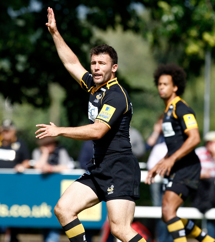 Photo:Richard Lane/ Richard Lane Photography. London Wasps v Treviso Rugby. Pre Season Friendly. 27/08/2011. Wasps' Chris Bell.
