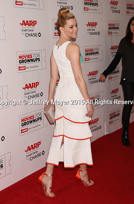BEVERLY HILLS, CA - FEBRUARY 08: Actress Elizabeth Banks attends AARP's Movie For GrownUps Awards at the Regent Beverly Wilshire Four Seasons Hotel on February 8, 2016 in Beverly Hills, California.