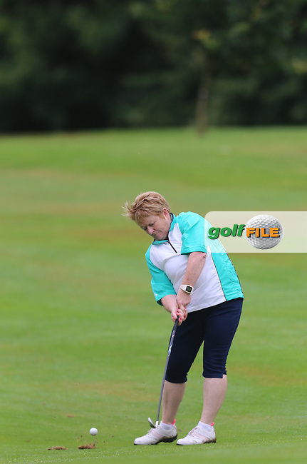 Bernie O'Kane (Strabane) during the Ulster Mixed Foursomes Final, Shandon Park Golf Club, Belfast. 19/08/2016<br /> <br /> Picture Jenny Matthews / Golffile.ie<br /> <br /> All photo usage must carry mandatory copyright credit (&copy; Golffile | Jenny Matthews)