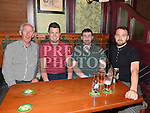 Patsy Carroll, Ian Mulroy, David McGeough and Paul Callan pictured at the Lannleire Awards night at the Dunleer Inn. Photo:Colin Bell/pressphotos.ie