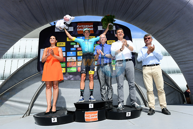 Jakob Fuglsang (DEN) Astana wins Stage 6 of the Criterium du Dauphine 2017, running 147.5km from Parc des Oiseaux - Villars-les-Dombes to La Motte-Servolex, France. 9th June 2017. <br /> Picture: ASO/A.Broadway | Cyclefile<br /> <br /> <br /> All photos usage must carry mandatory copyright credit (&copy; Cyclefile | ASO/A.Broadway)