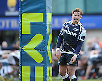 20130317 Copyright onEdition 2013©.Free for editorial use image, please credit: onEdition..Danny Cipriani of Sale Sharks barks instructions during the LV= Cup Final between Harlequins and Sale Sharks at Sixways Stadium on Sunday 17th March 2013 (Photo by Rob Munro)..For press contacts contact: Sam Feasey at brandRapport on M: +44 (0)7717 757114 E: SFeasey@brand-rapport.com..If you require a higher resolution image or you have any other onEdition photographic enquiries, please contact onEdition on 0845 900 2 900 or email info@onEdition.com.This image is copyright onEdition 2013©..This image has been supplied by onEdition and must be credited onEdition. The author is asserting his full Moral rights in relation to the publication of this image. Rights for onward transmission of any image or file is not granted or implied. Changing or deleting Copyright information is illegal as specified in the Copyright, Design and Patents Act 1988. If you are in any way unsure of your right to publish this image please contact onEdition on 0845 900 2 900 or email info@onEdition.com