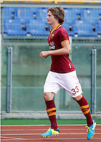 "Calcio: allenamento a porte aperte ""Open Day"" per la presentazione della Roma, a Roma, stadio Olimpico, 21 agosto 2013.<br /> AS Roma defender Tin Jedvaj, of Croatia, attends the club's Open Day training session at Rome's Olympic stadium, 21 August 2013.<br /> UPDATE IMAGES PRESS/Riccardo De Luca"