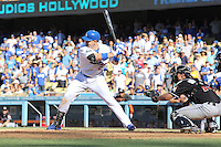 08/26/12 Los Angeles, CA: Los Angeles Dodgers first baseman Adrian Gonzalez #23 during an MLB game played between the Los Angeles Dodgers and the Miami Marlins at Dodger Stadium. The Marlins Defeated the Dodgers 6-2