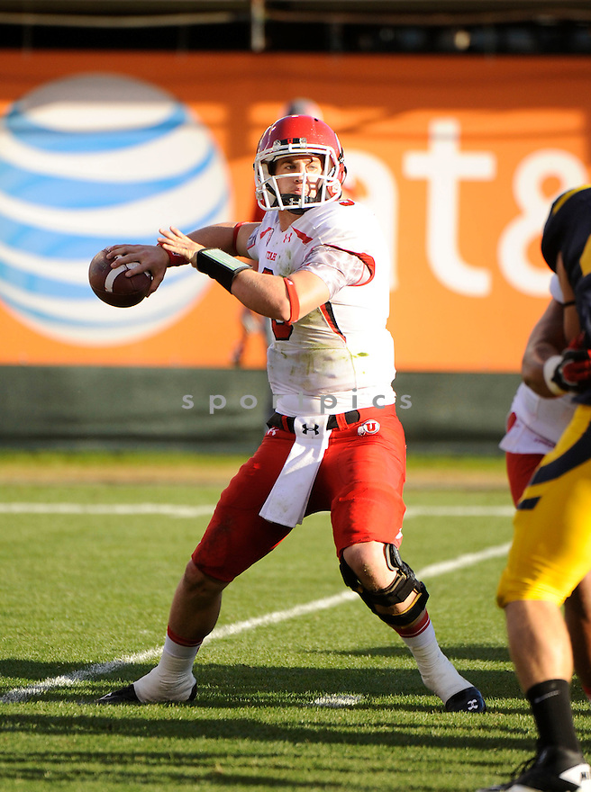 JON HAYS, of the Utah Utes, in action during Utah's game against the California Golden Bears on October 22, 2011 at AT&T Park in San Francisco, CA. Cal beat Utah 34-10.