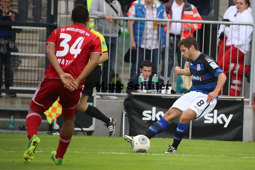 Michael Goerlitz (FSV) gegen Marvin Matip (Ingolstadt) - FSV Frankfurt vs. FC Ingolstadt, 8. Spieltag, Frankfurter Volksbank Stadion