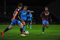 Fleetwood Town's midfielder Kyle Dempsey (8) approaches the Scunthorpe Utd goal during the Sky Bet League 1 match between Scunthorpe United and Fleetwood Town at Glanford Park, Scunthorpe, England on 17 October 2017. Photo by Stephen Buckley/PRiME Media Images