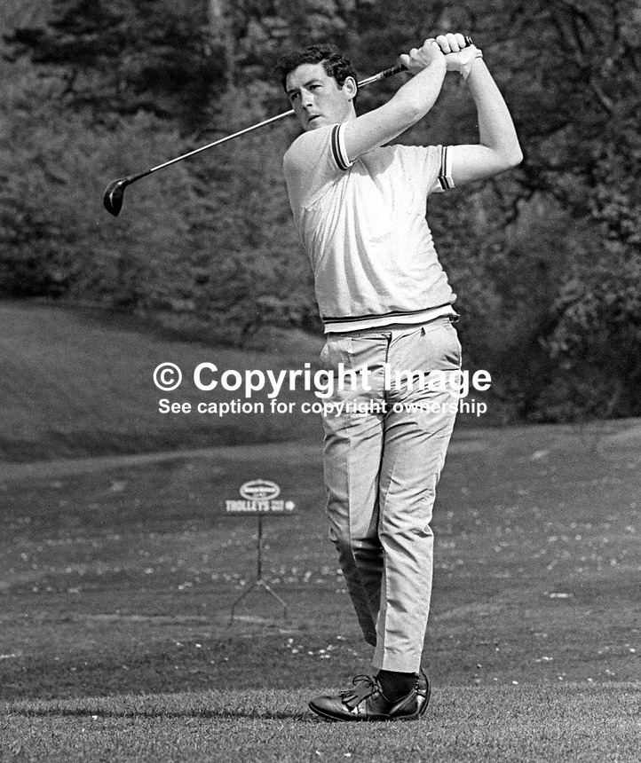 Paul Leonard, professional golfer, Whitehead Golf Club, Co Antrim, N Ireland, May 1968, 196805000136<br />
