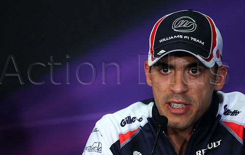 22.03.2012. Kuala Lumpur, Malaysia.  Venezuelan Formula One driver Pastor Maldonado of Williams seen during the press conference at the Sepang circuit, outside Kuala Lumpur, Malaysia, 22 March 2012. The Formula One Grand Prix of Malaysia will take place on 25 March 2012.