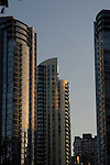 High rise apartment and office blocks, Vancouver, BC, Canada