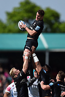 Calum Clark of Saracens wins the ball at a lineout. Gallagher Premiership match, between Saracens and Exeter Chiefs on May 4, 2019 at Allianz Park in London, England. Photo by: Patrick Khachfe / JMP
