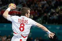 17.01.2013 World Championshio Handball. Match between Spain vs Hungray at the stadium La Caja Magica. The picture show  Victor Tomas Gonzalez (Right Wing of Spain)