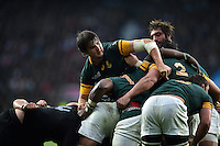 Lood de Jager of South Africa in action at a maul. Rugby World Cup Semi Final between South Africa and New Zealand on October 24, 2015 at Twickenham Stadium in London, England. Photo by: Patrick Khachfe / Onside Images