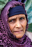 Following an October 8, 2005, earthquake, this woman lived in a tent city outside Balakot sponsored by Church World Service/Action by Churches Together.