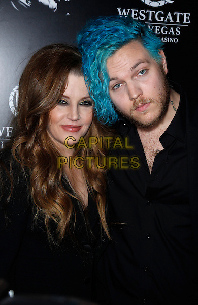 23 April 2015 - Las Vegas, Nevada - Lisa Marie Presley, Benjamin Keough. Red Carpet Premiere of &ldquo;The Elvis Experience&rdquo; Musical Production at The Westgate Las Vegas Resort and Casino.  <br /> CAP/ADM/MJT<br /> &copy; MJT/AdMedia/Capital Pictures