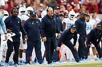 BLACKSBURG, VA - OCTOBER 19: Head coach Mack Brown of the University of North Carolina during a game between North Carolina and Virginia Tech at Lane Stadium on October 19, 2019 in Blacksburg, Virginia.