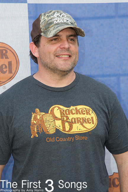 Rhett Atkins attends the Cracker Barrel Old Country Store Country Checkers Challenge at Globe Life Park in Arlington on April 18, 2015 in Arlington, Texas