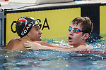 Hayslee Cassidy, Zach Knowles (R), AON Swimming New Zealand National Age Group Swimming Championships, National Aquatic Centre, Auckland, New Zealand, Saturday 21 April 2018. Photo: David Rowland/www.bwmedia.co.nz