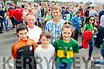 Kerry Fans at Fitzgerald Stadium Cormac Healy, Thomas Dillane, Aidan, Sean and Lorna Healy (Glin).