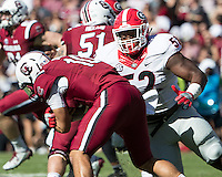 Columbia, SC - October 9, 2016: The University of South Carolina Gamecocks vs the University of Georgia Bulldogs at Williams-Brice Stadium. Final score Georgia 28, South Carolina 14.