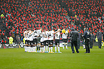 A minute's silence prior to kick -off - Football - Sky Bet Championship - Derby County vs Wolverhampton Wanderers - iPro Stadium Derby - Season 2014/15 - 8th November 2014 - Photo Malcolm Couzens/Sportimage