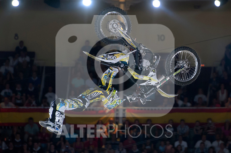 Red Bull X-Fighters 2012. Madrid. Rider In the picture Maike Melero ESP. July 19, 2012. (ALTERPHOTOS/Ricky Blanco)