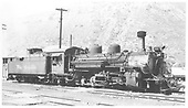 Engineer's side view of K-28 #473 at Durango.<br /> D&amp;RGW  Durango, CO  7/1958