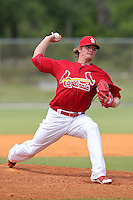St. Louis Cardinals minor league pitcher Shelby Miller #30 delivers a pitch during a spring training game vs the Florida Marlins at the Roger Dean Sports Complex in Jupiter, Florida;  March 25, 2011.  Photo By Mike Janes/Four Seam Images