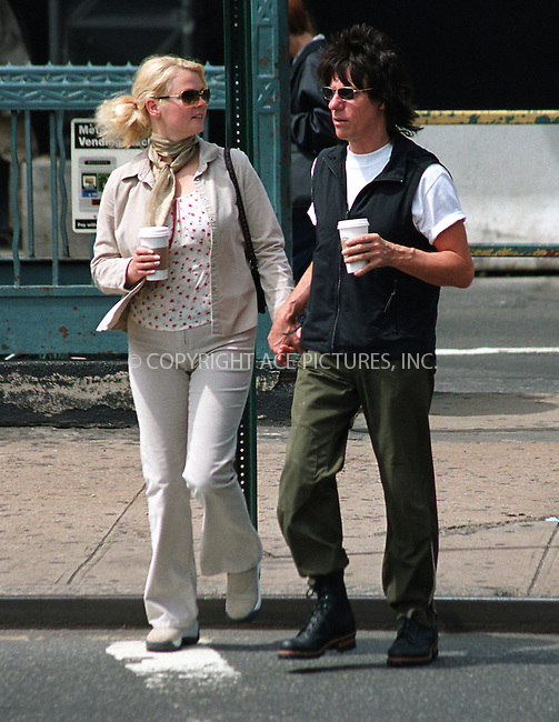 *EXCLUSIVE*   ..Legendary guitar player JEFF BECK taking a stroll around his hotel in New York. April 14, 2002. Please byline: Alecsey Boldeskul/NY Photo Press.   ..*PAY-PER-USE*      ....NY Photo Press:  ..phone (646) 267-6913;   ..e-mail: info@nyphotopress.com
