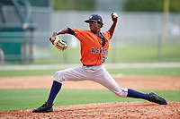 GCL Astros pitcher Maikel Sepulveda (30) during a game against the GCL Marlins on July 22, 2017 at Roger Dean Stadium Complex in Jupiter, Florida.  GCL Astros defeated the GCL Marlins 5-1, the game was called in the seventh inning due to rain.  (Mike Janes/Four Seam Images)