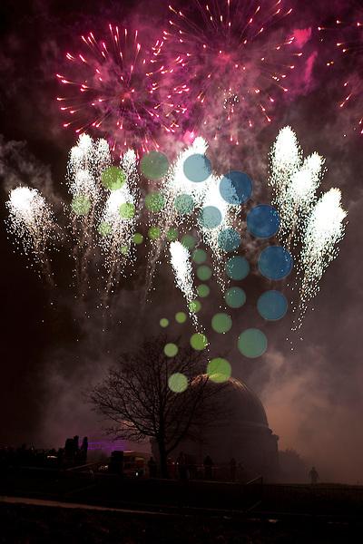 Edinburgh's Torchlight procession 2012 fireworks on Calton Hill...Malcolm McCurrach (Universal News and Sport) - 30/12/2012